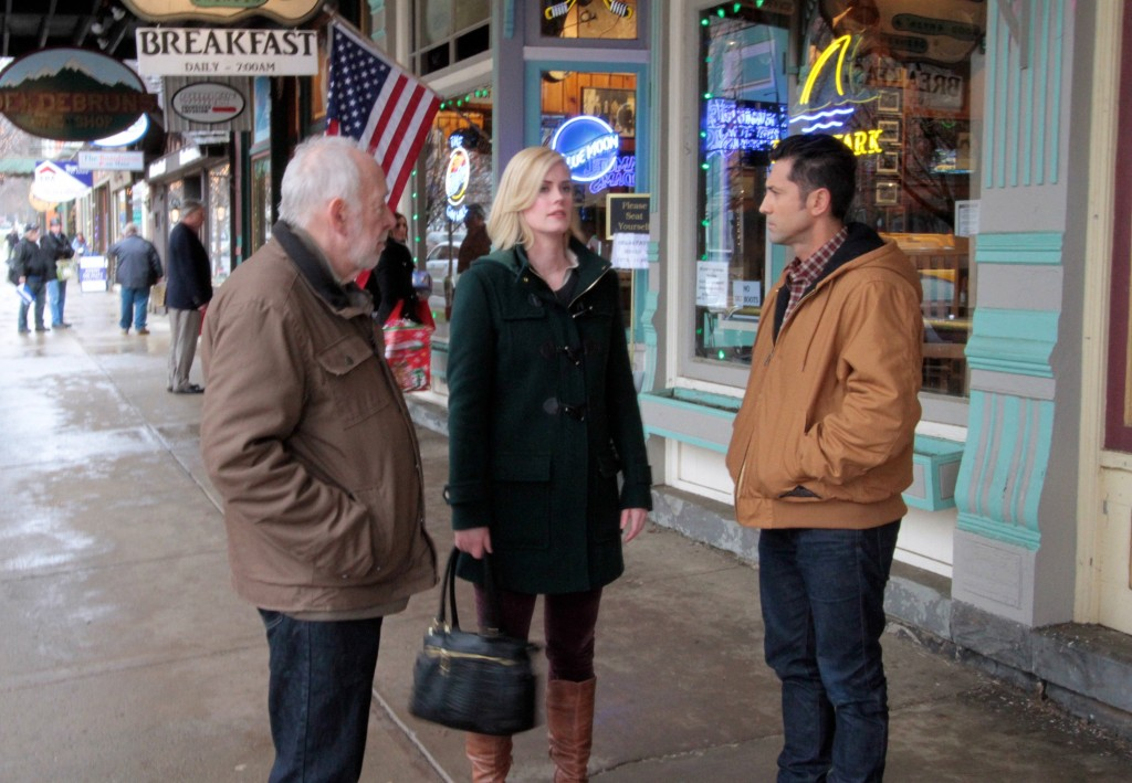 (Howard Hessman, Abigail Hawk, and David O'Donnell in Ellicotville)