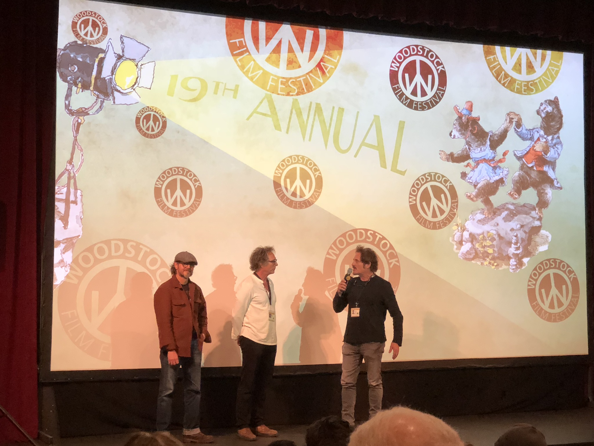 Cold Brook co-writer Cain Devore, Fichtner, and Kim Coates at post screening Q & A.